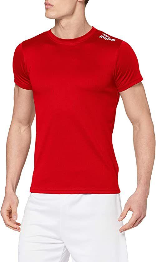 Rogelli Męski top z krótkim rękawem Promo, czerwony, S