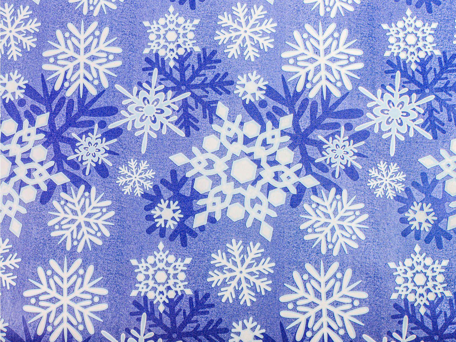 Papier do pakowania prezentów Płatki Śniegu - 76 x 152 cm - 1 szt.