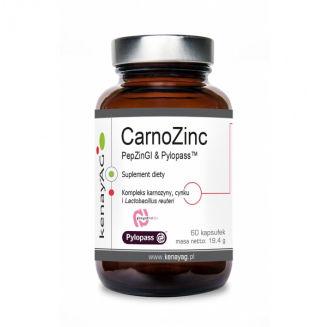 CarnoZinc Karnozyna Cynk i Lactobacillus 60 kapsułek KenayAG