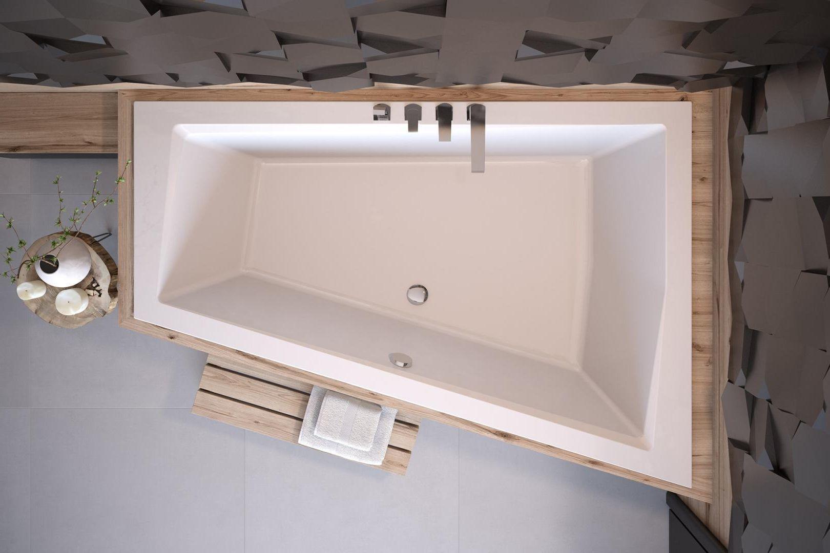 Besco wanna asymetryczna Intima Duo Slim 180 x 125 cm prawa