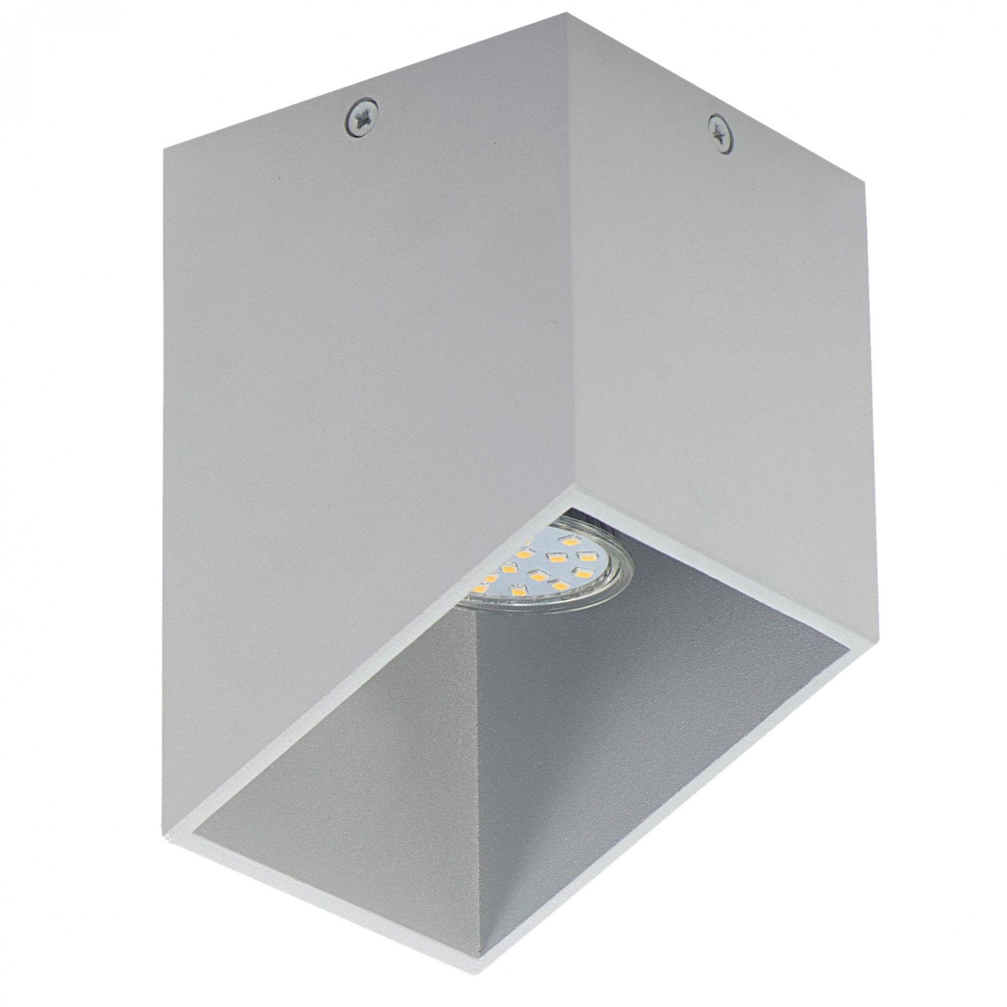 Nowoczesny plafon metalowy E117-Rubis - popiel