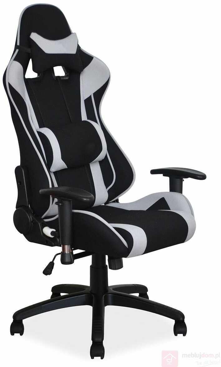 KUPON 10% NA STRONIE  Fotel gamingowy VIPER Signal Czarno-popielaty