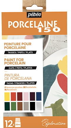 Farby do Porcelany Pebeo Porcelaine 150 Exploration 12X20 ml