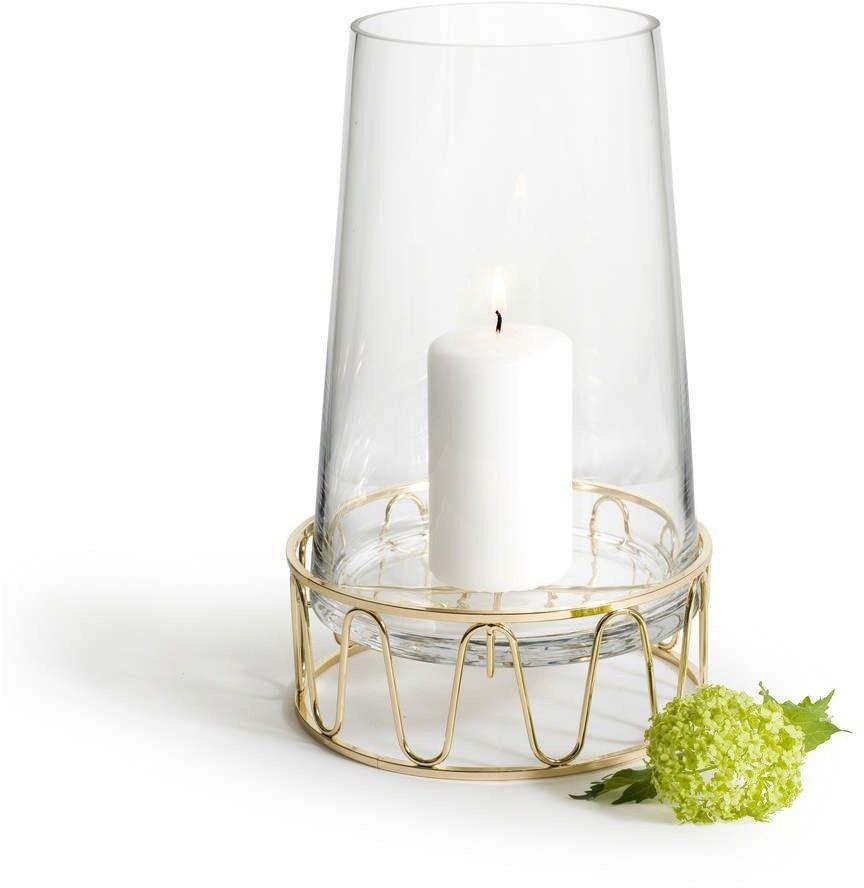 Sagaform - winter - świecznik/wazon, złoty
