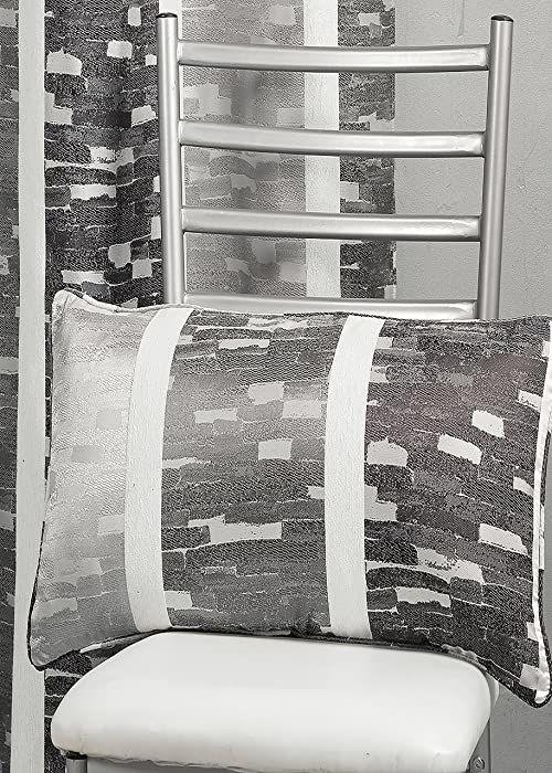 HomeMaison hm69 C202985 poduszka, żakardowy wzór paski pionowe beżowy 30 x 60 cm