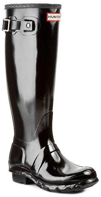 Hunter Kalosze Original Gloss W23616 Czarny
