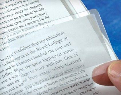 Foliowa lupa do czytania 8,5 x 5,5 cm Wizytówka