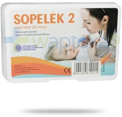 Sopelek 2 aspirator do nosa + 10 filtrów jednorazowych