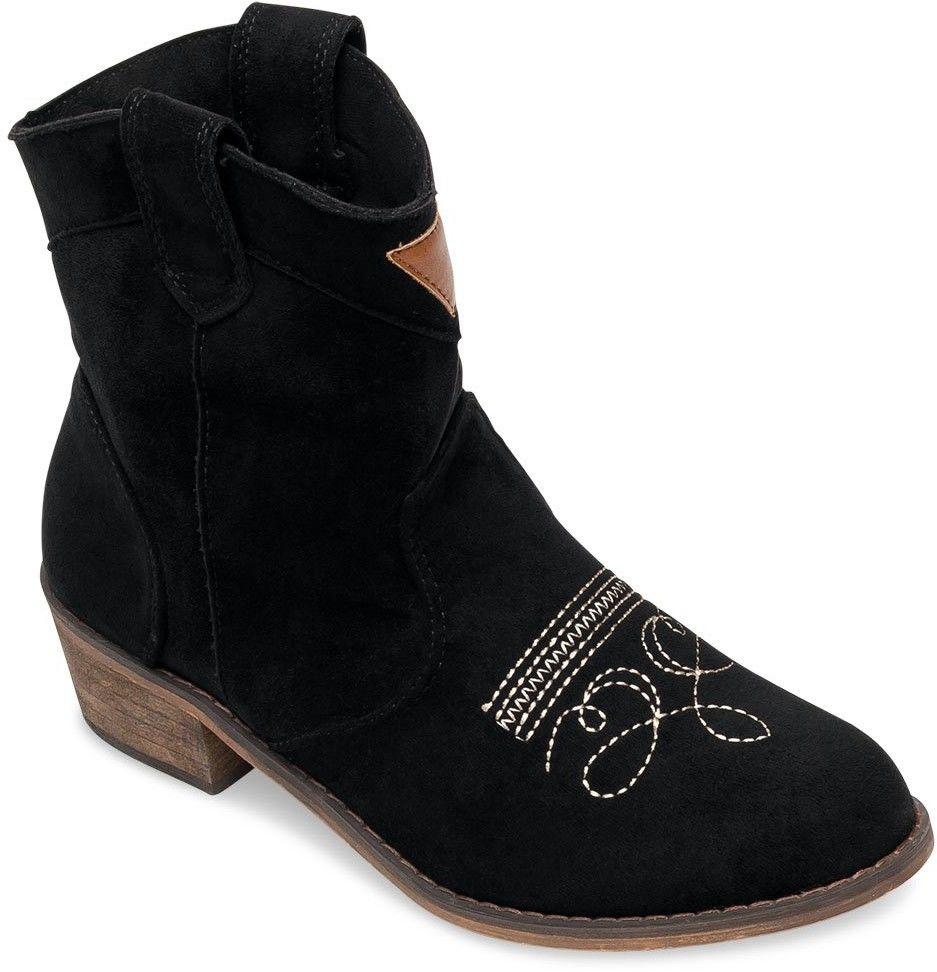 Kowbojki damskie Foreverfolie AB62 Czarne