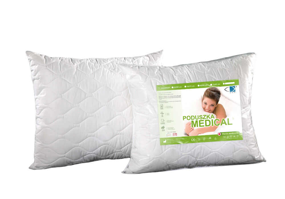 Poduszka Antyalergiczna Medical 40x40 z zamkiem biała AMW