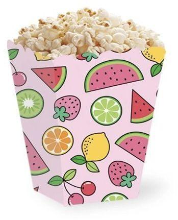 Pudełka na popcorn słodycze Summer party 5 sztuk 511012