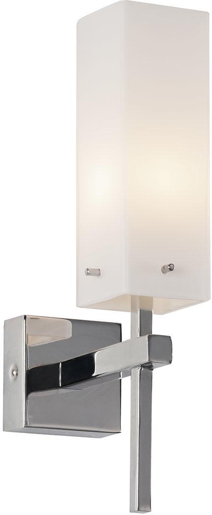 Italux kinkiet lampa ścienna Tempo MB12021012-1A IP44 chrom białe szkło