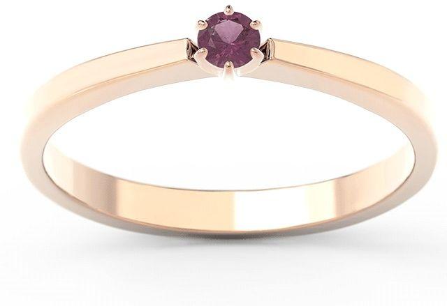 Pierścionek zaręczynowy z różowego i białego złota z rubinem cp-2410pb