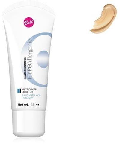 BELL_HypoAllergenic Mat&Cover Make-Up hypoalergiczny fluid matująco-kryjący 02 Natural 30g