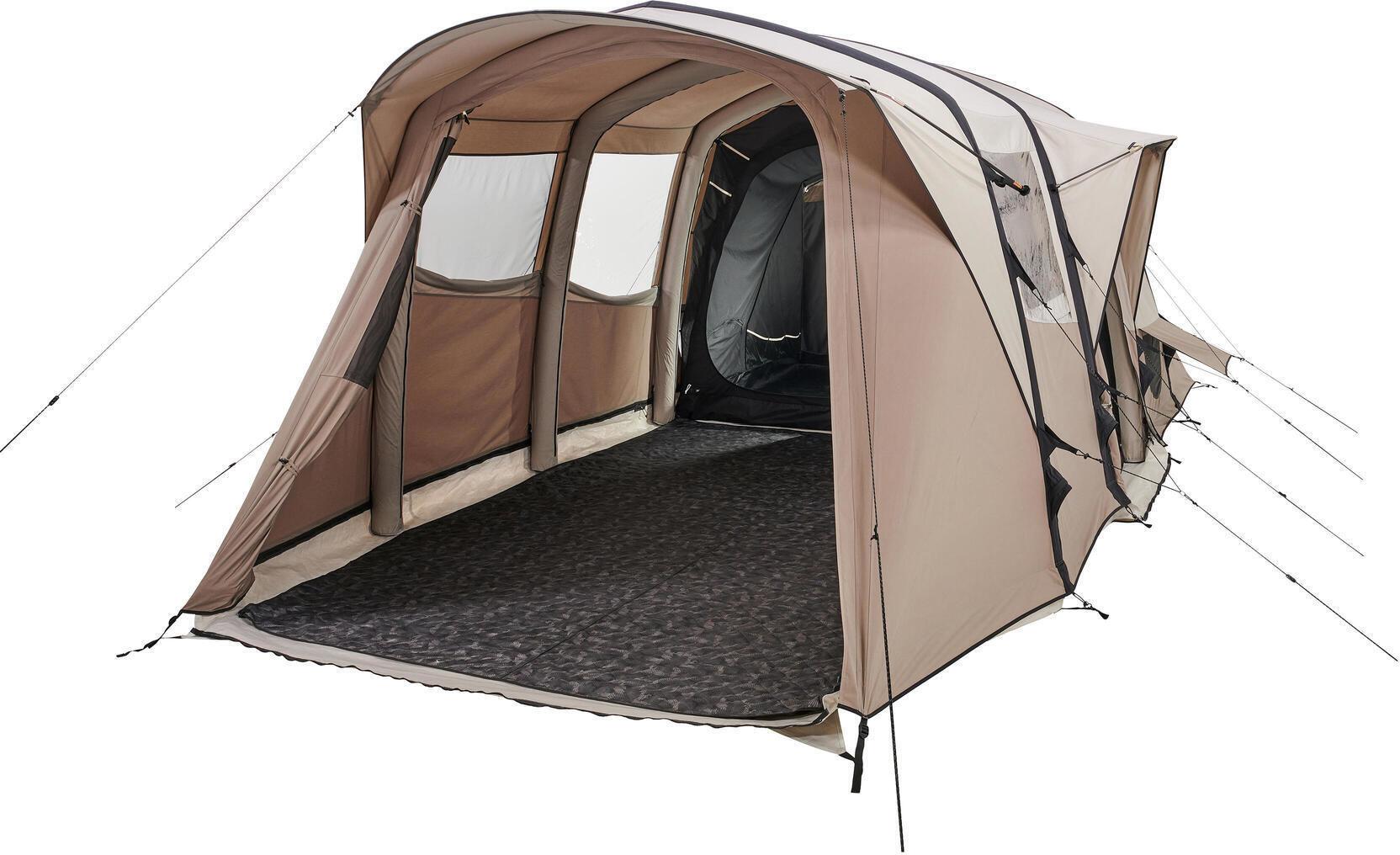 Namiot kempingowy - AirSeconds 6.3 polibawełna - dla 6 osób - 3 sypialnie