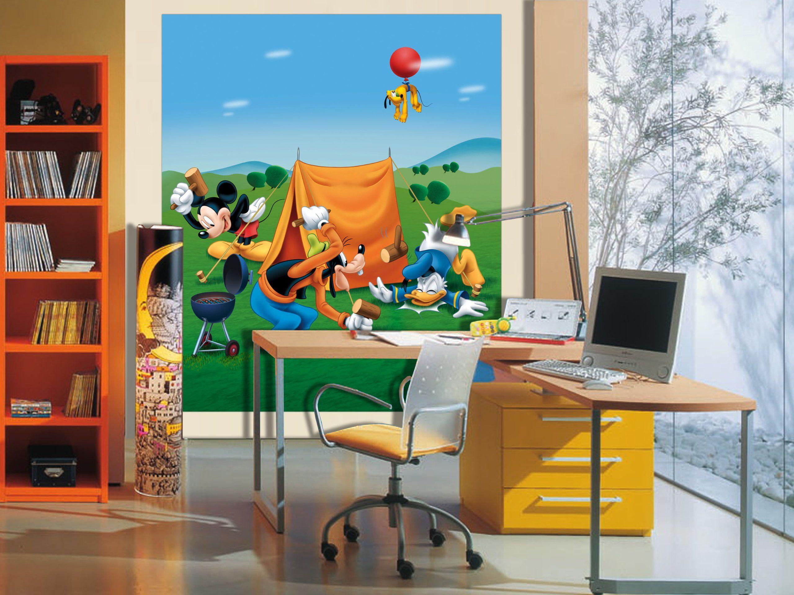 Disney Junior Disney Myszka Miki 2 części zdjęcie mural tapeta do pokoju dziecięcego, papieru, wielokolorowa, 0,1 x 180 x 202 cm