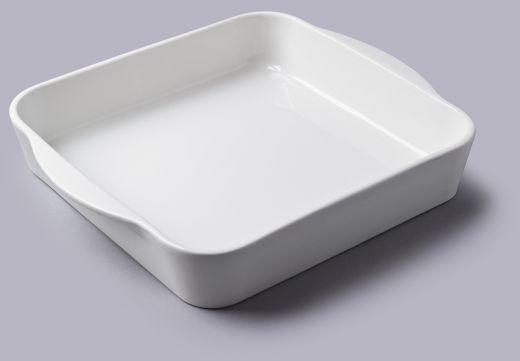 Kwadratowe porcelanowe naczynie do pieczenia 28 cm