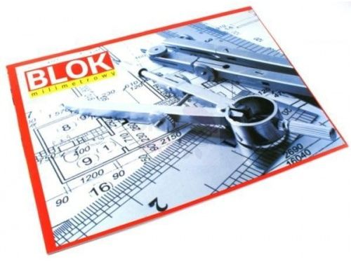 Blok milimetrowy INTERDRUK A4 20 kartek