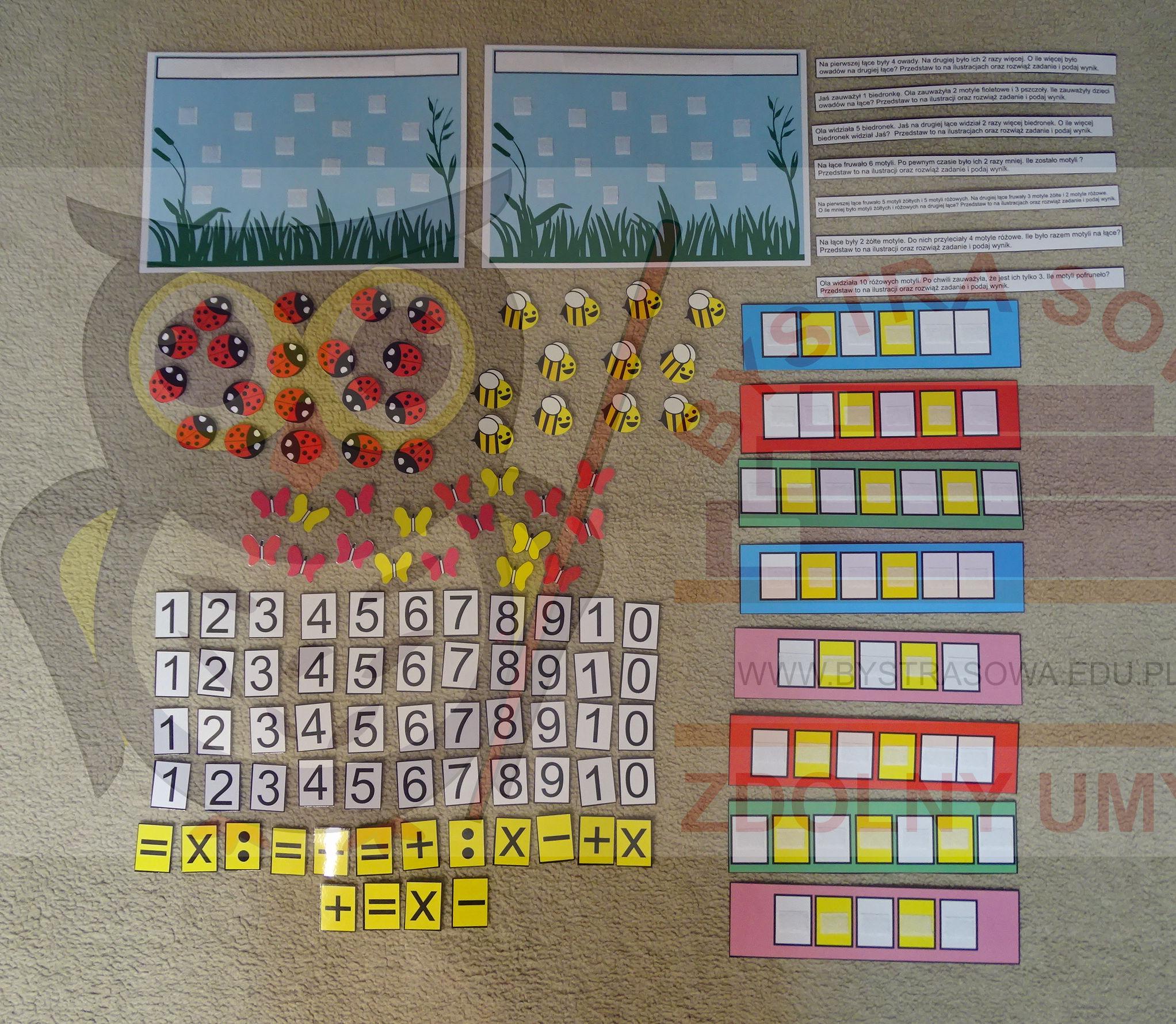 Zabawa z matematyką - wesoła łąka