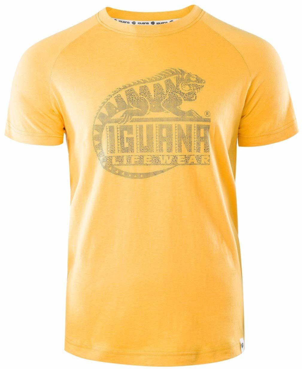 Iguana męski T-shirt Lanre żółty Beeswax/Logo Triangle Print S