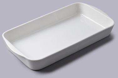 Prostokątne porcelanowe naczynie do pieczenia 24x14cm