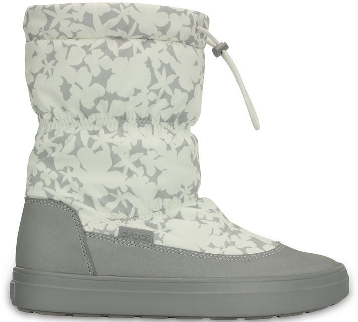 Śniegowce damskie CROCS Lodgepoint Pull-On Boot szare203422159