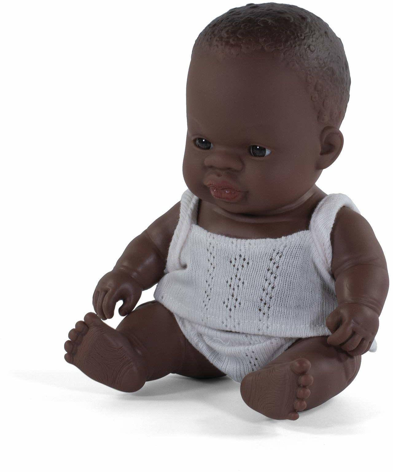 Miniland Miniland31123 lalka dla niemowląt afrykański mały chłopiec 21 cm 31123, wielokolorowa