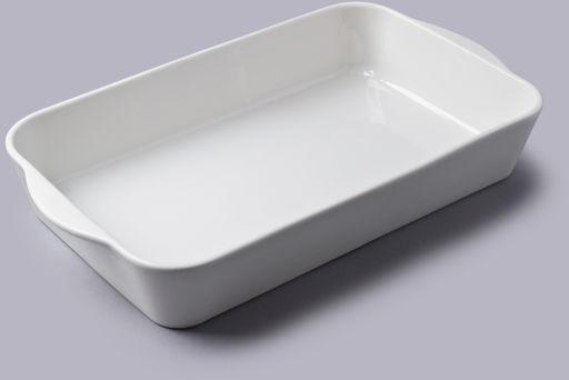 Prostokątne porcelanowe naczynie do pieczenia 34 x 21cm