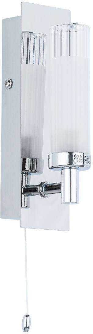 Italux kinkiet lampa ścienna Santos MB4910-1B IP44 do łazienki z wyłącznikiem