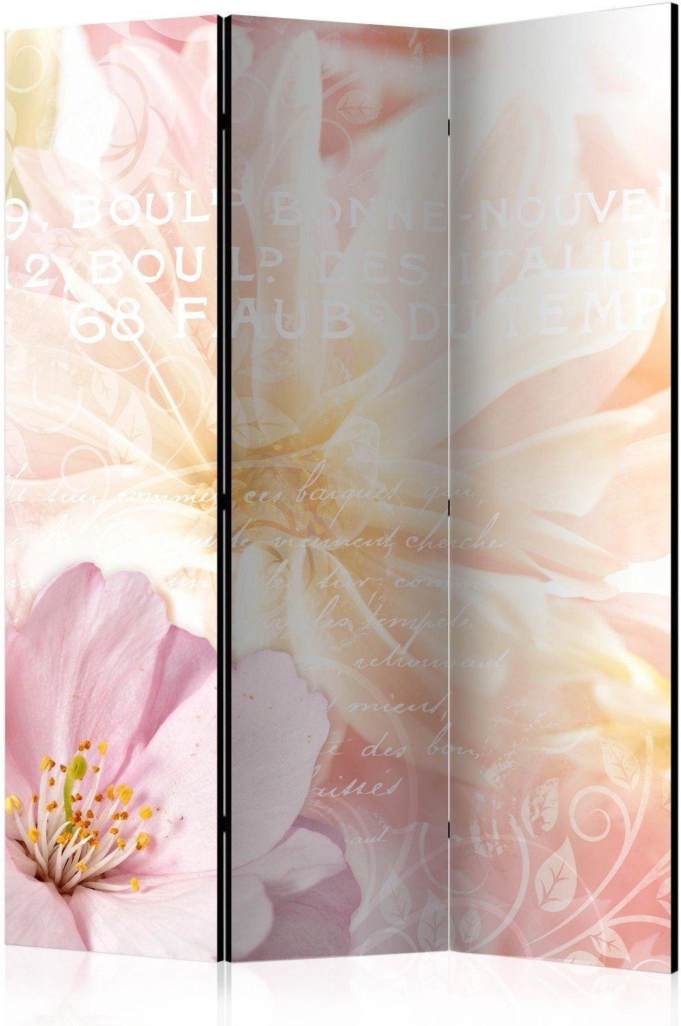 Parawan 3-częściowy - romantyczna wiadomość [room dividers]