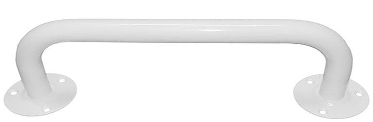 Poręcz dla niepełnosprawnych do łazienki prosta  25 70 cm stal biała