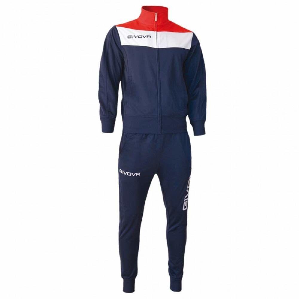 Givova, garnitur campo, niebieski/czerwony, 3XS