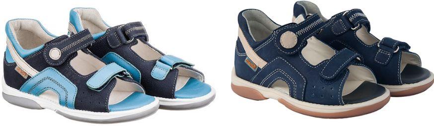 Niskie sandały Memo profilaktyczno-diagnostyczne do przedszkola lub domu (Szafir)