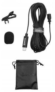 Mikrofon Boya BY-M3 pojemnościowy krawatowy USB-C