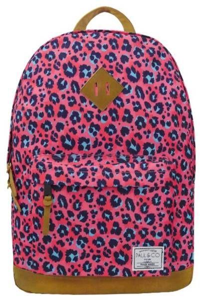 Plecak dwukomorowy różowy Centki PAUL&CO