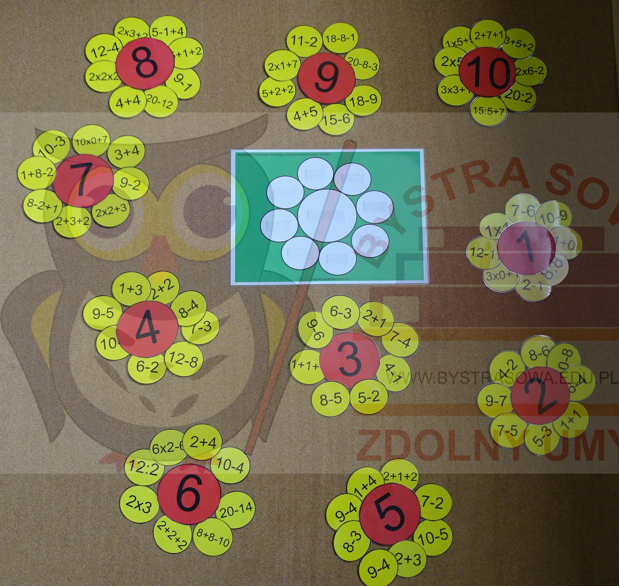 Matematyczny kwiatek - wykonywanie działań