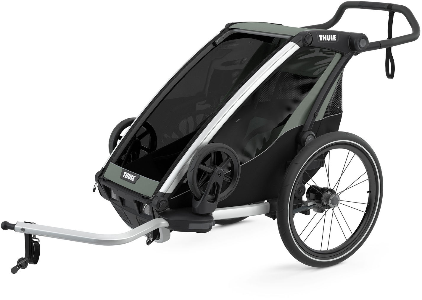 Thule Chariot Lite1 przyczepka rowerowa Agave czarno-szara