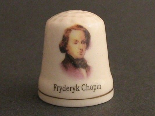 Naparstek ceramiczny - Chopin