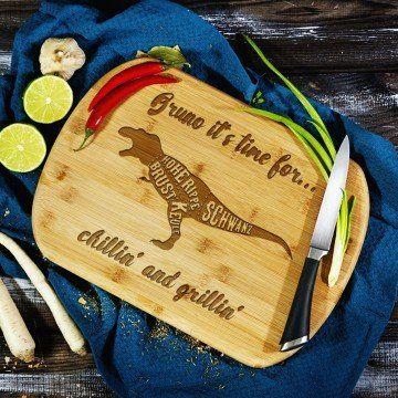 Chillin and grillin - deska do krojenia z grawerem