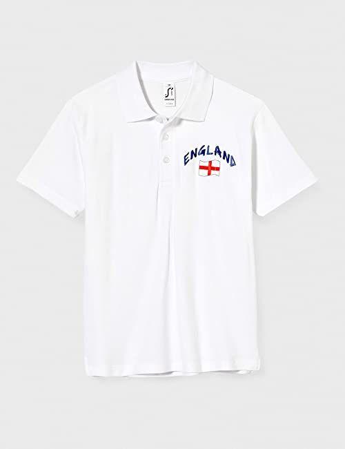 Supportershop Dziecięca koszulka polo Rugby England L, biała