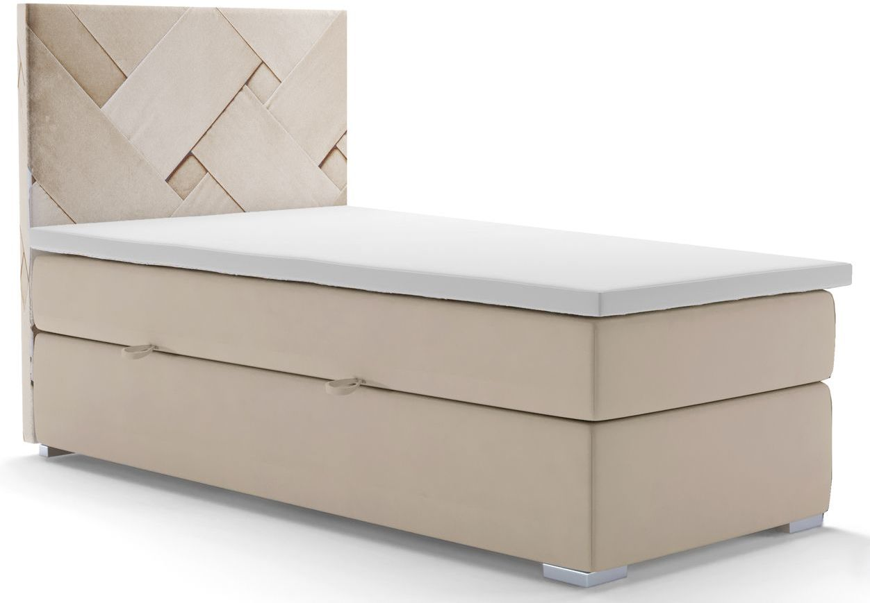 Pojedyncze łóżko boxspring Lefika 90x200 - 58 kolorów