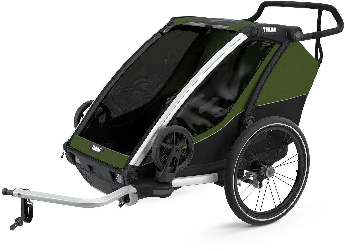 Thule Chariot Cab przyczepka rowerowa CypressGreen - ciemny zielo