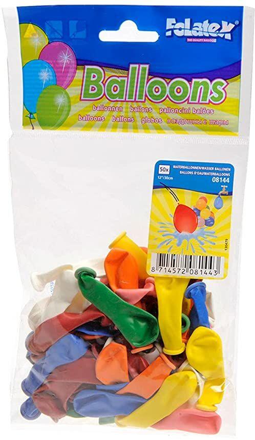 Folat 08144 Balony wodne - 50 sztuk, wiele kolorów