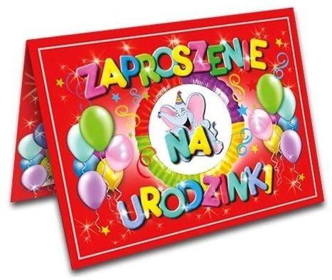 Zaproszenia na Urodziny dla dzieci z kopertami 10 sztuk ZX6500-10x