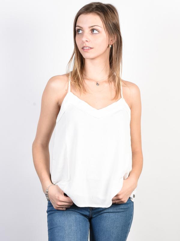 Roxy OFF WE GO Marshmallow bawełniany podkoszulek damski - XS