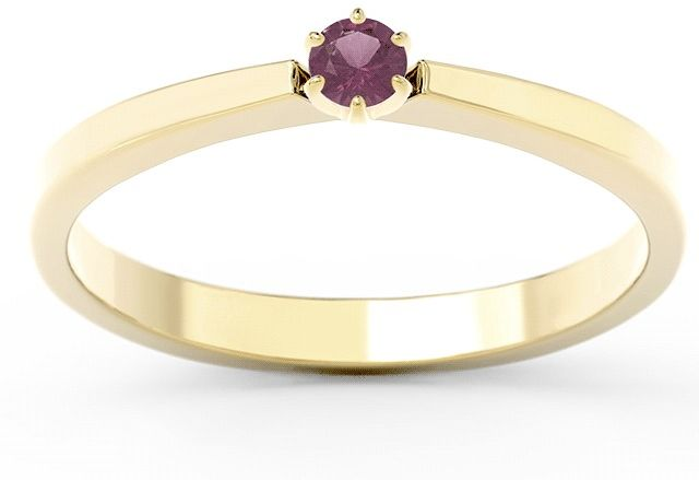 Pierścionek zaręczynowy z żółtego i białego złota z rubinem cp-2410zb