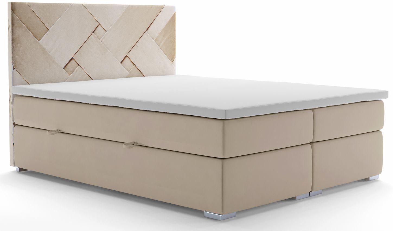 Łóżko boxspring z zagłówkiem Lefika 140x200 - 58 kolorów