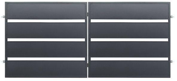 Brama dwuskrzydłowa Polbram Steel Group Leda 350 x 158 cm ocynk antracyt