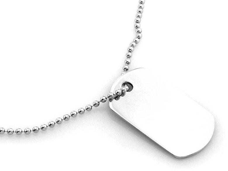 Srebrny naszyjnik 925 kulkowy łańcuszek nieśmiertelnik 5,56 g