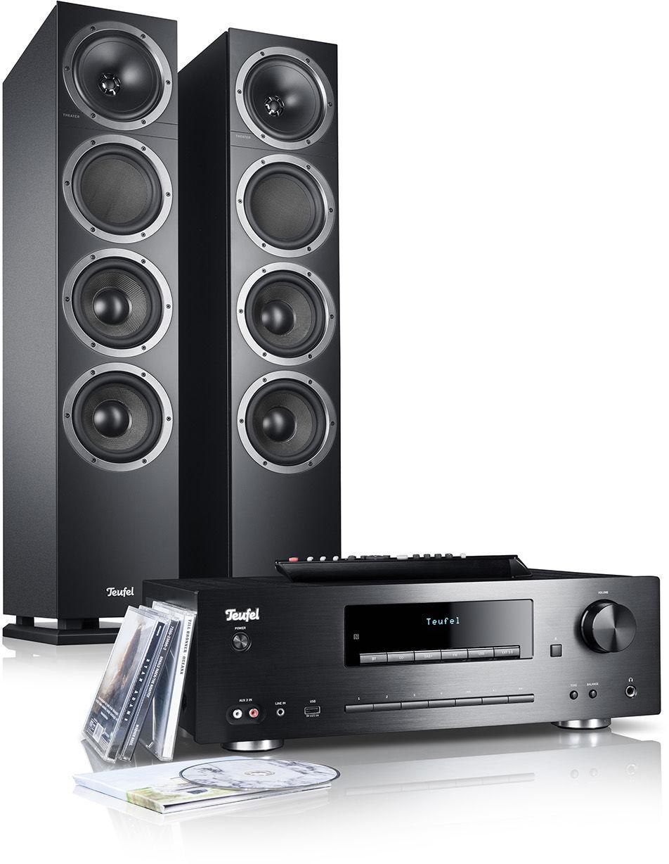 Teufel KOMBO 500 KOLUMNY stereo czarne, wieża CD